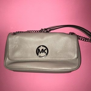 Michael kors handbag light grey w/silver hardware